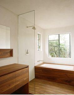teak bathtub enclosure
