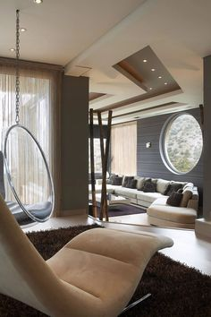 ♂ Contemporary interior design circular window