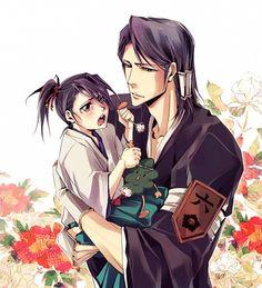 Kuchiki Soujun with his son, Byakuya