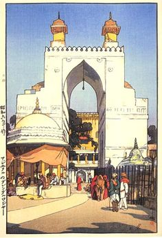 Artist Hiroshi Yoshida -- the Japanese discover Tourism.  This was taken in India.