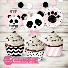 Panda Bear Cake, Bolo Panda, Bear Cakes, Panda Birthday Party, Baby Birthday, Birthday Parties, Birthday Cake, Panda Candy, Ideas Para Fiestas