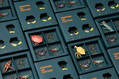 Printing On The Tiny on Packaging of the World - Creative Package Design Gallery jewelry package Printing On The Tiny Brand Packaging, Box Packaging, Design Packaging, Coffee Packaging, Pretty Packaging, Origami Insects, Orchard Design, Paper Art, Paper Crafts