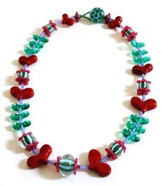beaded jewelry with hearts - Google Search
