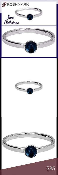 30% Off Bundles Sterling Silver Birthstone Ring Tanzanite CZ 4mm around a 2mm sterling silver band. The ring has been dipped in anti-tarnish which can last on how well you take care of the ring. All sterling silver tarnish which then needs to be cleaned. New! Jewelry Rings
