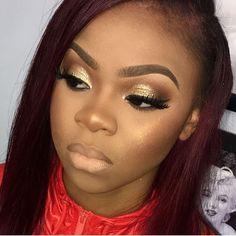 "200 Likes, 3 Comments - Makeup For Black Women (@makeupforblackwomen) on Instagram: ""Beauty feature : @mzjazz_makeupartist #makeupforblackwomen"""