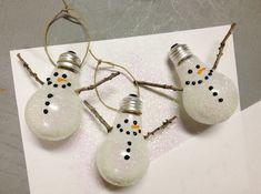 bastelideen für weihnachten schneemännchen