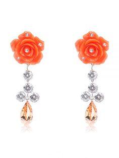 2f15423ef7a2 Pendientes de flamenca con diamantes - Pendientes de flamenca con cristales  Swarovski - Pendientes de flamenc