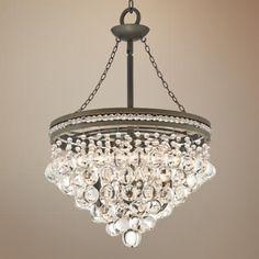 "Regina Olive Bronze 19"" Wide Crystal Chandelier 26"" high - $299, LampsPlus"