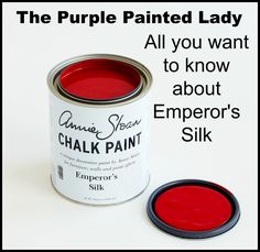 Emperor's Silk Chalk Paint® - Tell me all about it! (and Annie's other reds)