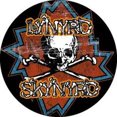 "LYNYRD SKYNYRD (DISTRESSED SKULL) 1"" BUTTON"