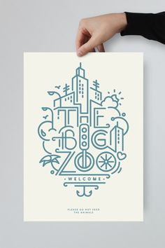 Typography inspiration: The Big Zoo #Typography #Graphic #Design