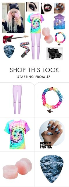 """""""bleeding heart rejects: bass guitarist"""" by newmotionlessjinxxgamer ❤ liked on Polyvore featuring 7 For All Mankind and BLVD Supply"""