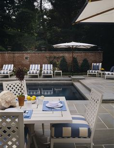 backyard pool love the stamped concrete tile