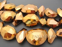 Chinese Crystal Designer Glass Faceted Nugget Mix...ZNETSHOWS, Inc.