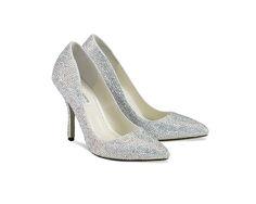 Wedding Shoe Bling by Benjamin Adams. Kitten Heel Wedding Shoes, Bling Wedding Shoes, Bridal Shoes, Glass Slipper, Crystal Wedding, Dress And Heels, Dress Shoes, Bridal Boutique, Blue Shoes
