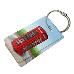 British Red Telephone Booth Suitcase Bag ID Luggage Tag Set ** You can get more details by clicking on the image. Note:It is Affiliate Link to Amazon.