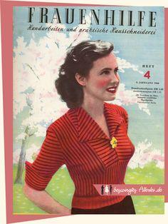 1950s Knitting - Gestreifter Jumper