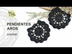 Tutorial Pendientes o Aros a Crochet o Ganchillo