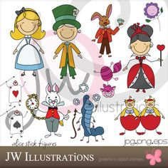 Alice in Wonderland Party pack by DevinPrather on Etsy, $30.00
