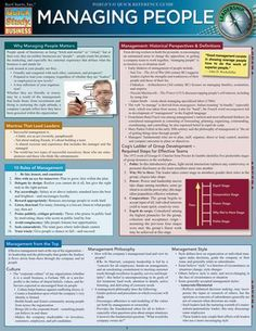 Business and management infographic & data visualisation Managing People Laminated Reference Guide We understand that proper managing of . It Management, Business Management, Business Planning, Business Tips, Management Styles, Conflict Management, Business Essentials, Operations Management, Resource Management