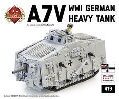 Brickmania Toys - A7V Tank, $365.00 (http://www.brickmania.com/a7v-tank/)