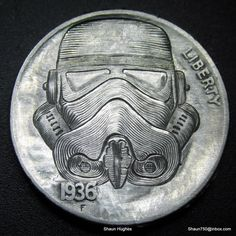 """Star Wars Stormtrooper: Carved Nickel"" by Shaun Hughes (shaun750.deviantart.com) on @deviantART"