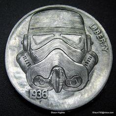 """""""Star Wars Stormtrooper: Carved Nickel"""" by Shaun Hughes (shaun750.deviantart.com) on @deviantART"""