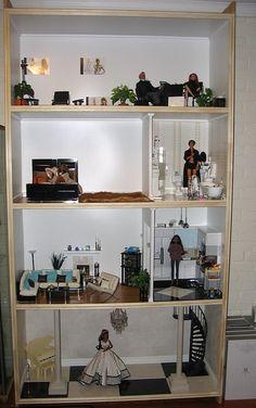 Custom Barbie Bookcase House