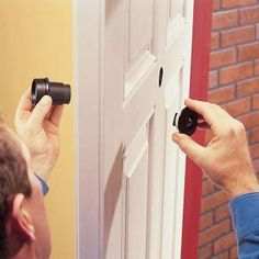 Make your home safer and more secure by adding a peephole in your exterior doors. You can see who's there before you open i