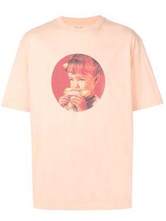 Palace munchy print T-shirt - Orange Peach Orange, Size Clothing, Palace, Street Wear, Women Wear, Short Sleeves, Tees, Cotton, Mens Tops