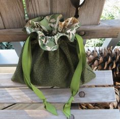 Green Celtic Fabric Drawstring Bag by BettyTikkerDavis on Etsy, $11.00