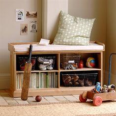 Shoe Storage Bench with Cushion image