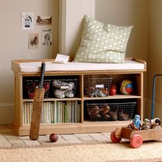 Shoe Storage Bench with Cushion image