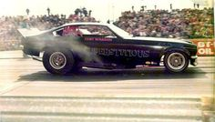 """Curt Wasson had one of the best pure Chevy powered funny cars with the """"Superstitious"""" Vega."""