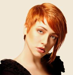 i love this spin on the short hair/long hair cut...the color is awesome for standing out in winter