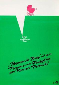 German poster for Rosemary's Baby (Roman Polanski, USA, 1968); Designer: unknown.