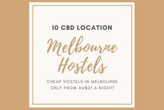 10 cheap CBD location hostels in Melbourne perfect for budget travellers starting from AUD 21 a night!