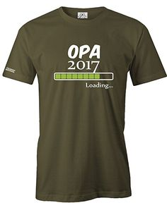 OPA LOADING 2017 - HERREN - T-SHIRT in Army by Jayess Papa Shirts, Herren T Shirt, Army, Mens Tops, Ss, Amazon, Fashion, Guy Gifts, Father's Day