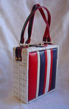 Vintage patriotic basket purse