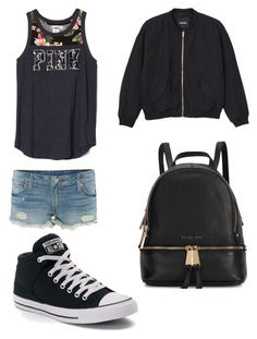 """""""Untitled #21"""" by aaadanyah ❤ liked on Polyvore featuring beauty, True Religion, Monki, Converse and Michael Kors"""