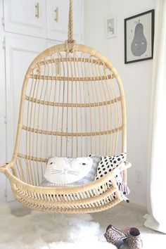 Hanging chair in house