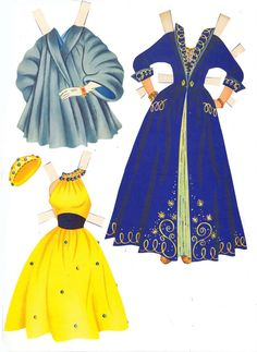 Cyd Charisse paper doll clothes