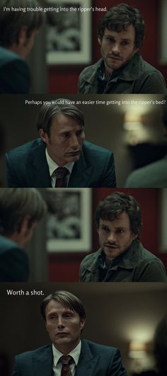 Subtly, thy name ain't Hannibal Lecter.