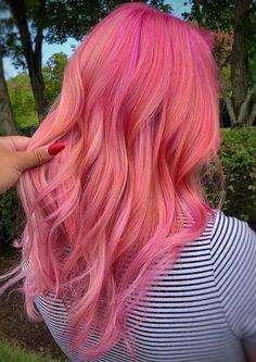 Maroon Hair Colors, Cute Hair Colors, Gorgeous Hair Color, Hair Color Pink, Hair Color Shades, Cool Hair Color, Pink Hair Streaks, Pink Hair Highlights, Hair Color Balayage