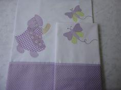 Enxoval de bebe - mini lençol (0,70 x 1,00m) e fronha, em percal (tudo 100% algodão). Tema Sunbonet. Para comprar acesse: www.maeteatelier.... ou envie um e-mail para: mailto:teresi@glo...