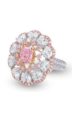 Natural Fancy pink diamonds are among the most desirable and rarest stones in the world ~ M.S. Rau Antiques