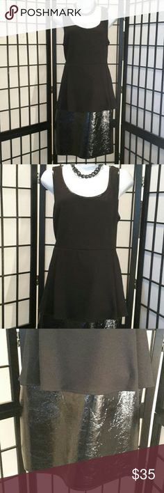 *NWT* Catherine Malandrino Paris Cocktail Dress Gorgeous Faux Leather Skirt, Stretch Black Peplum Top, Sleeveless,  Back Zipper, Accessories not included, Perfect for any Party, Thanks for sharing my closet, I will show Posh love by doing the same. Catherine Malandrino Dresses
