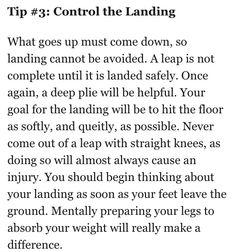 Tip #3 to improve leaps   Ballet, dance