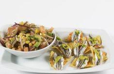 Receta de Tiradito de boquerones con ensalada de melloco y aguacate de Garimba Sur