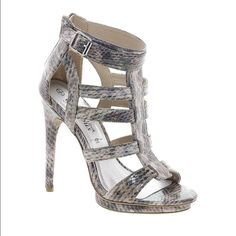 Asos snakeskin gladiator sandals NWOT Too big for me but true to size. Never worn ASOS Shoes Sandals